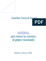 Ctsj Material Para Grupos de Pastoral Vocacional