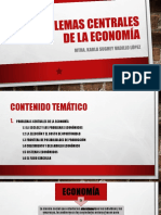 1. Problemas Centrales de La Economia