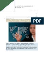 Modifican Normas Contables y de Aseguramiento a Través Del Decreto 2170 de 2017