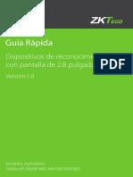 Reconocimiento Facial Pantalla Color 2.8 Guia Rapida