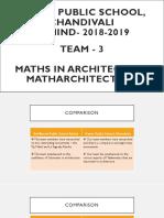maths in architecture
