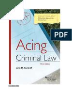 Acing criminal law
