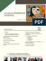 Reunion Ordinaria Docentes. Nov 2017