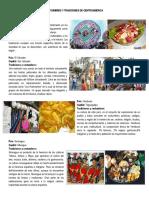 Costumbres y Tradiciones de Centroamerica