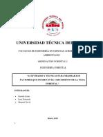 Factores Climaticos y Edaficos Informe 1