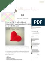 Pattern_ 3D Crochet Heart