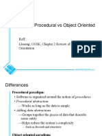 Object Versus Structured Oriented