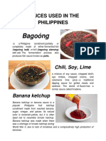 Sauces Used in the Philippines