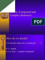 Lang - Simple, Compound & Complex Sentences (JB)