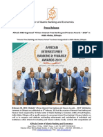 Press Release - African Interest-free Banking and Finance Awards
