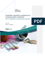 Australian Regulatory Guidelines for Complementary Medicines