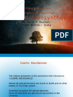 Stellar Nucleosynthesis by Tarun p. Roshan,
