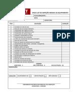 Linkjet - ( Check List de Inspecao Mensal Link 500s )