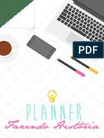 Planner Fazendo História Projeto Escrita Criativa 2018