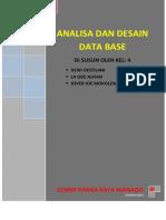 Analisa Dan Desain Data Base