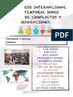 Programa de mano del I Congreso Internacional Intertemporal sobre Recursos, Conflictos y Migraciones