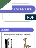 The Animal Aptitude Test