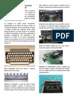 Teclado y Partes Mecanicas de Una Maquina de Escribir