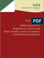 Nism Series II a Registrar to an Issue Exam Workbook