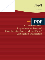 Nism Series II b Registrar to an Issue Mutual Funds Workbook