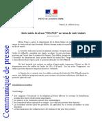 Communiqué de presse de la préfecture de Haute-Saône