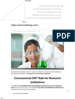 Concessional GST Rate for Research Institutions - IndiaFilings