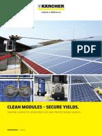 Solar Panel Cleaning Machine