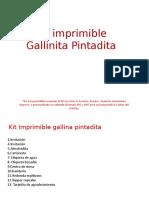 Kit Imprimible Gallina Pintadita