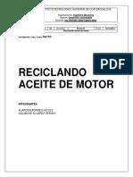 Reciclado de Aceite de Motor