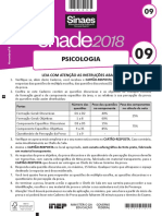 ENADE 2018 - prova Psicologia