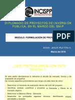 Formulación de Proyectos de Inversión Publica