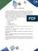 Anexo 1 - Descripción Del Proyecto Final