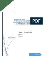 Les Transformations Interdites Thermodynamiquement1