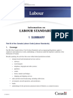 CanadaLabourCode - Pamphlet 1 - Standards