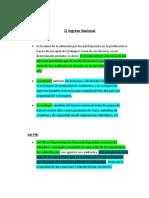 Ingreso Nacional y Distribucion Del Ingreso Territorial Bruto, Por Sectores Economia General