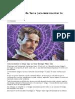 Teoria de Tesla Para Incrementar Tu Energia