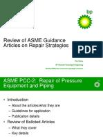 ASME Guidance Articles on Repair Strategies - C. Rodery
