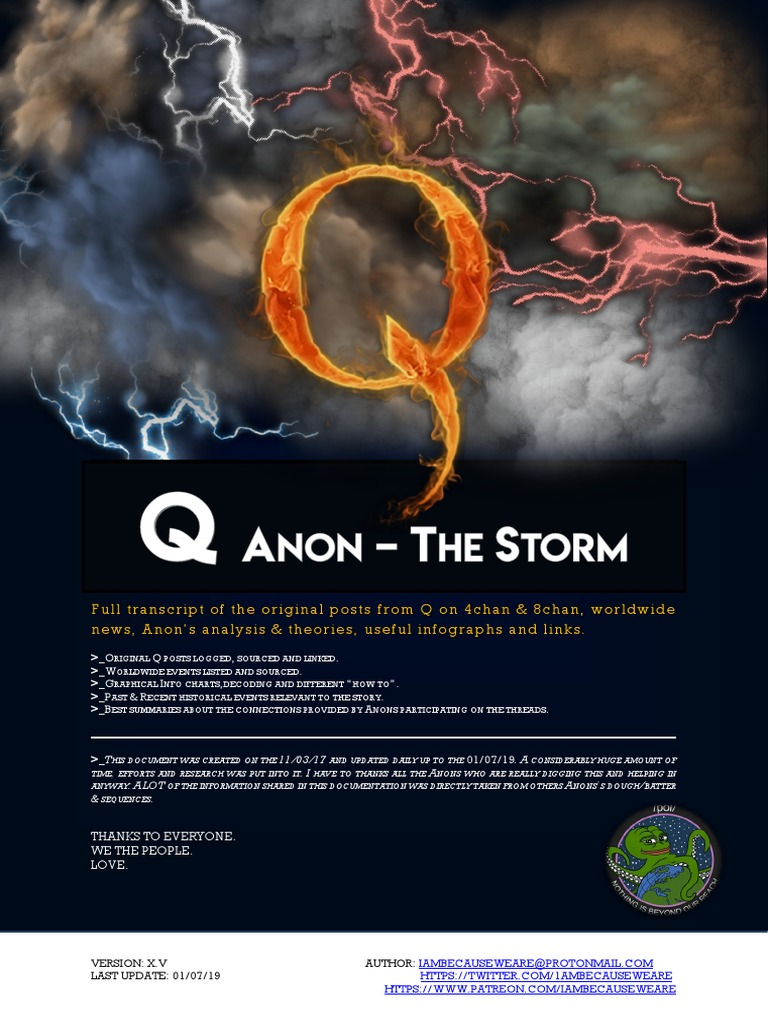 Q Anon the Storm X V | World Wide Web | Technology