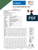 VBG01 Válvula Mariposa Especificaciones
