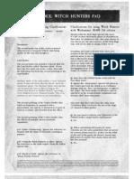 m1180142 Witch Hunters FAQ 2004-08-5th Edition