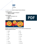Halloween Word Scramble | Grade 4