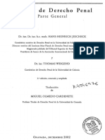JESCHECK, Hans-Heinrich; WEIGEND, Thomas. Tratado de Derecho Penal Parte General, 5ª Ed., Ren. e Ampl., Trad. Miguel Olmedo Cardenete (1)
