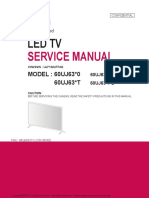 60UJ6300 led TV service manual