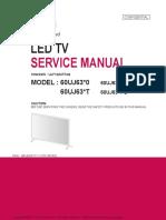 60UJ6300 led TV service manual