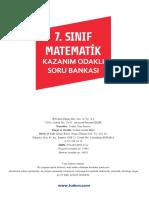 7. Sinif Matematik Kazanim Odakli Soru Bankasi
