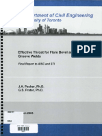 Effective Throat for Flare Bevel and Flare Groove Welds