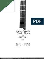 A.segovia - Classic Album for Guitar Vol.05 - Ongaku No Tomo Edition
