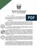 Resolución Ministerial 056 2017 MINAM