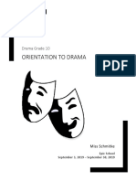 drama grade 10 unit plan orientation