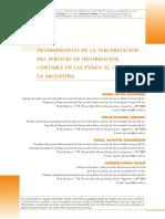 determinantes de la tercerización del servicio de información contable en las pymes